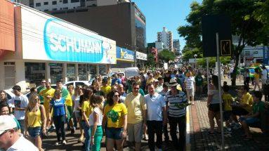 Protestos e manifestações em Xanxerê e Chapecó