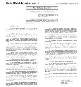 Decreto 8433 Lei dos Motoristas