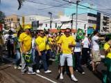 Manifestação em Chapecó contra corrupção e governo