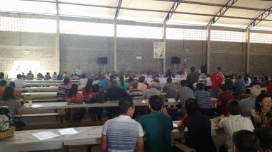 Encontro do sindicato dos trabalhadores rurais em São Luiz, Guaraciaba