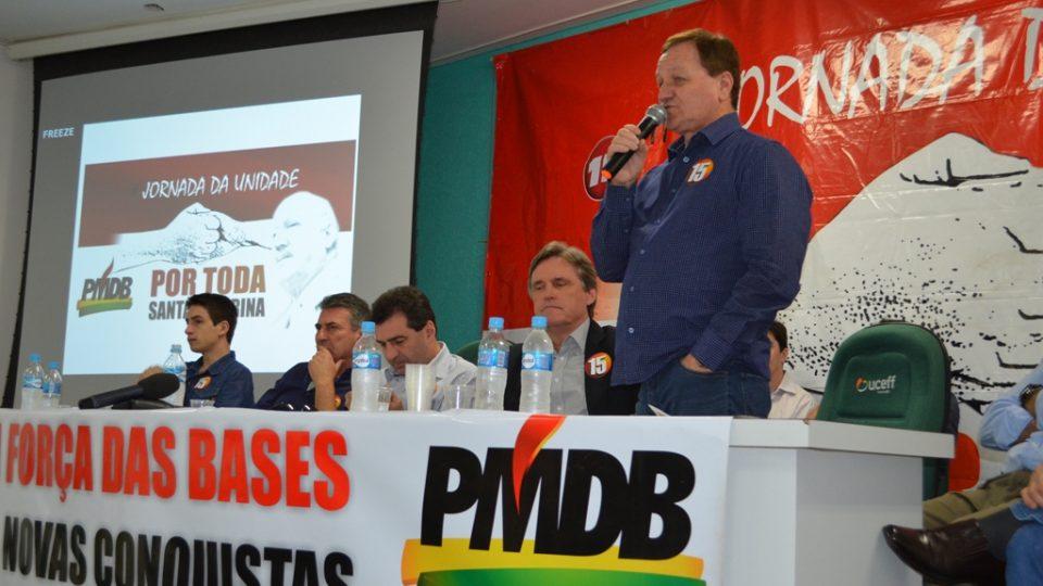 Colatto comenta sobre as caminhadas do PMDB em SC