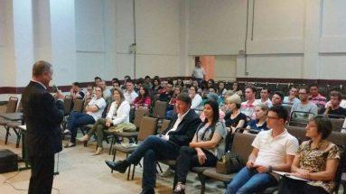 Palestra na FACC de Concórdia para o curso de Agronomia durante a Semana Acadêmica
