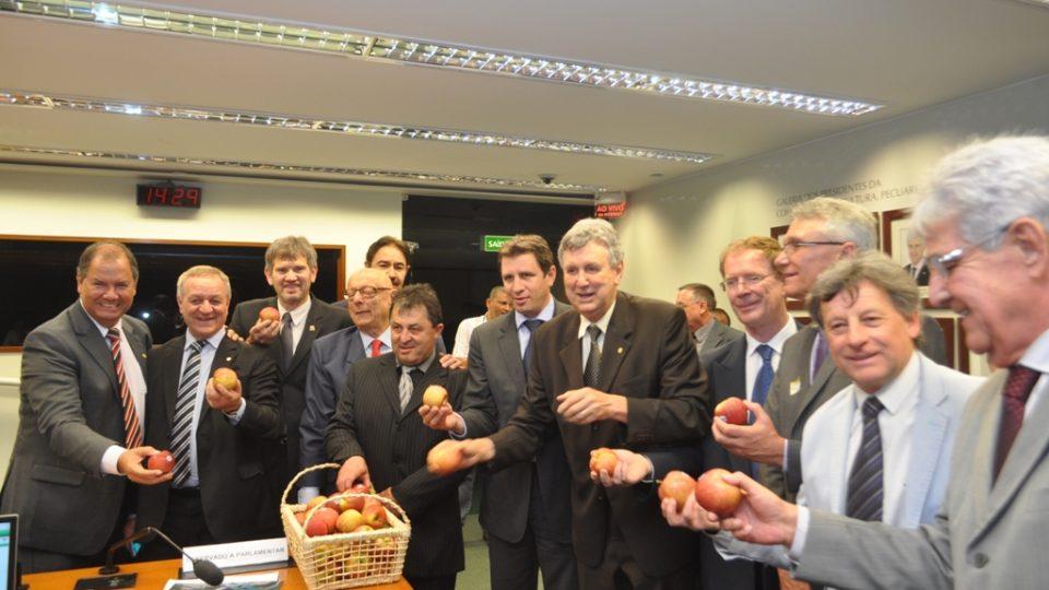 Deputado Colatto alerta para os perigos da importação da maçã