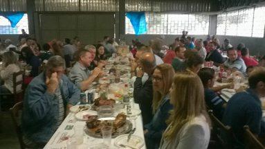 Festa da padroeira Santa Bárbara em Cordilheira Alta