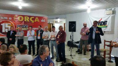 Encontro com amigos do PMDB em Curitibanos
