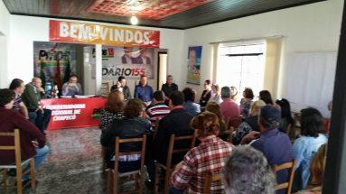 Encontro com funcionários públicos no Diretório do PMDB em Chapecó