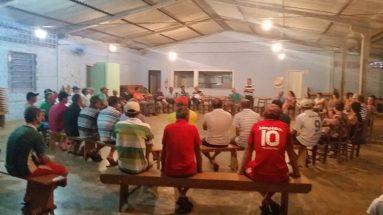 Reunião com agricultores da DPD da área Araçá em Cunhaporã e Saudades
