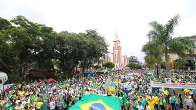 Manifestação contra a corrupção em Chapecó SC