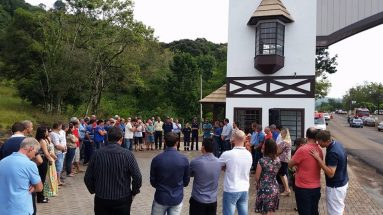 Inauguração do portal do município de São Carlos/SC