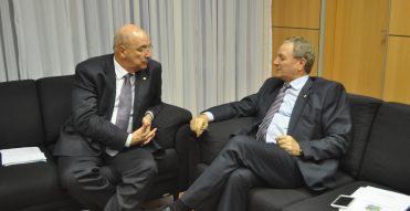 Colatto participou de audiências públicas com os novos ministros